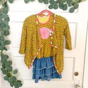 LITTLE MASS 2 Piece Mini Dress with Shrug Size 7